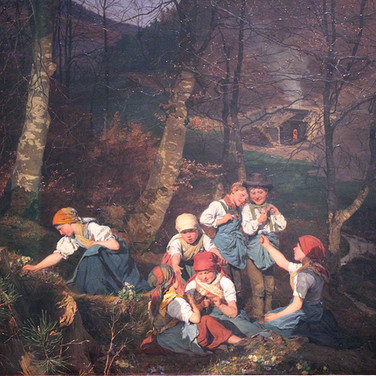 Children Playing in the Forest