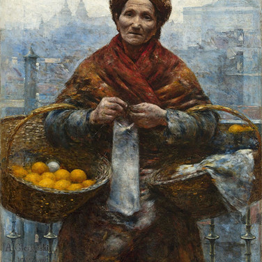 Jewish Woman Selling Oranges