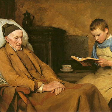 Reading Devotions to Grandfather