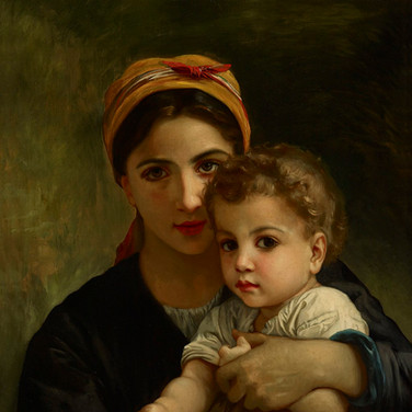 Young Girl and Child