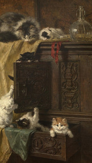 20. Similar to A Fascinating Tale by Mme. Henriette Ronner (Immodest by Hendriette Ronner-Knip)