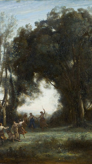 40. Dance of the Nymphs by Jean Baptiste Camille Corot