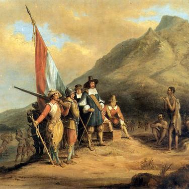 Jan van Riebeeck Arrives in Table Bay