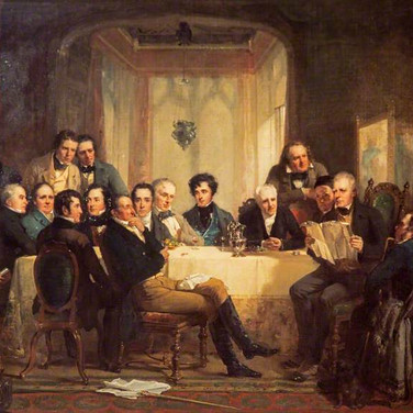 Sir Walter Scott and His Friends at Abbotsford