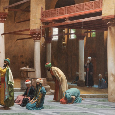 Prayers in the Mosque