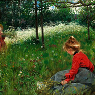 Girls on Jamtland Summer Meadow