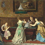 Ladies Playing Billiards