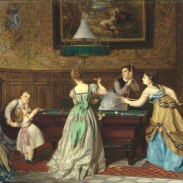 Ladies Playing Billiards