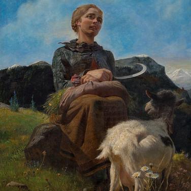 Portrait of Heidi with Goat