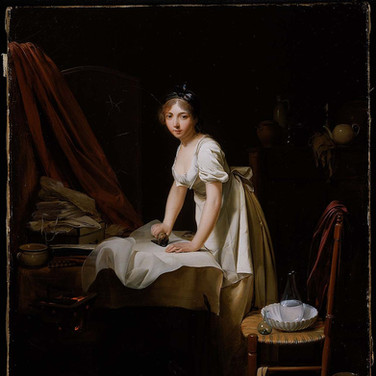 Young Woman Ironing