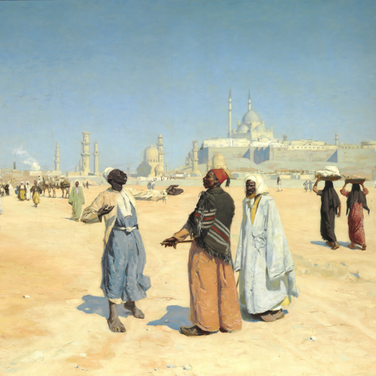 View from the Desert of Cairo