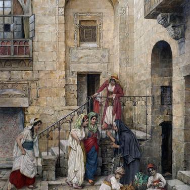 Harem Ladies in a Courtyard