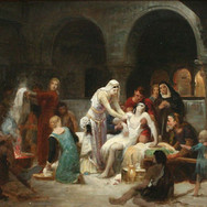 Saint Elisabeth of Hungary Serves the Sick