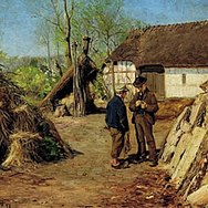 A Young Farmer's Son Talking to a Peasant Boy
