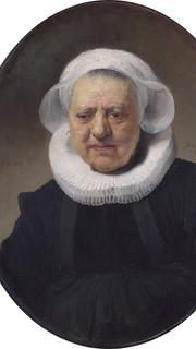 33. Portrait of an Old Woman by Rembrandt Van Rijn