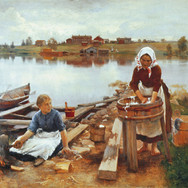 Laundry at the River Bank