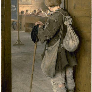 At the School Door