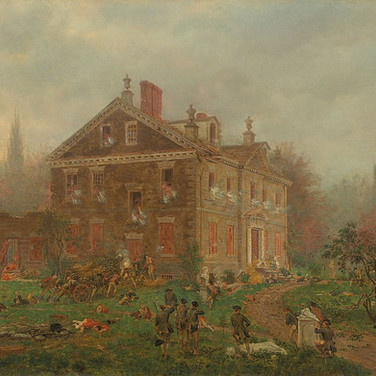 The Attack on Chew's House During the Battle of Germantown