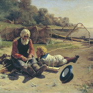 Fisherman with a Boy