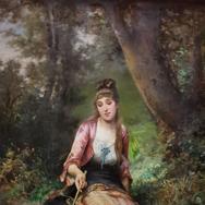 Elegant Young Girl Fishing