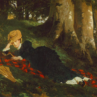 Woman Reading in the Forest