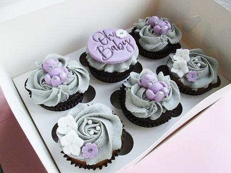 Diagonal lilac baby cupcakes.jpg