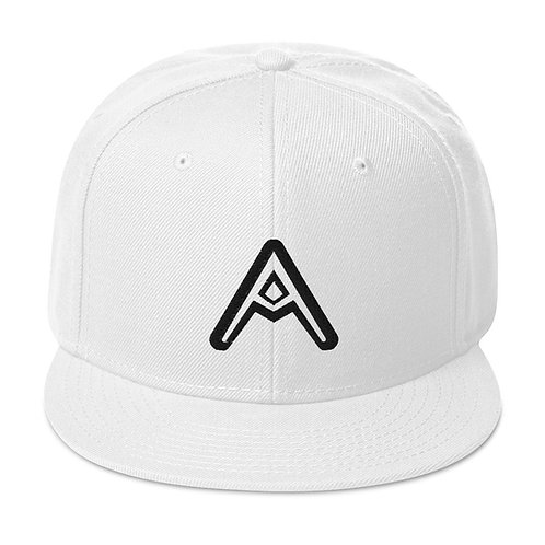 AzizDraws White Snapback Hat