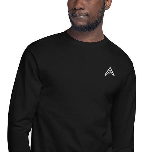 AzizDraws Men's Champion Long Sleeve Shirt Embroidered Black