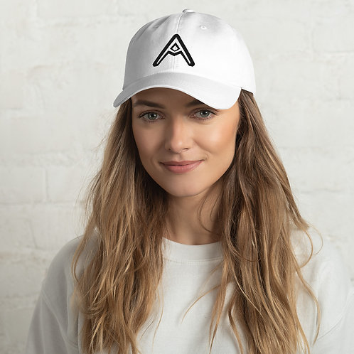 AzizDraws White Dad hat