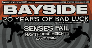 House Of Blues Listings Update: Bayside Brings '20 Years of Bad Luck'