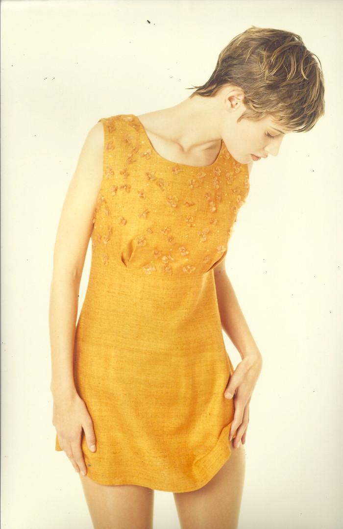 Robe soie orange 1995