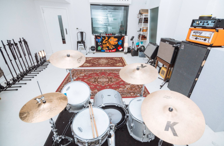 Drums in Post Electric Studio, Edinburgh