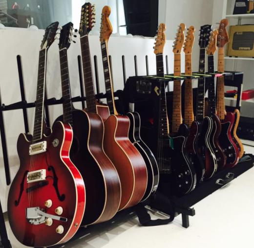 Guitars at Post Electric Studio, Edinburgh