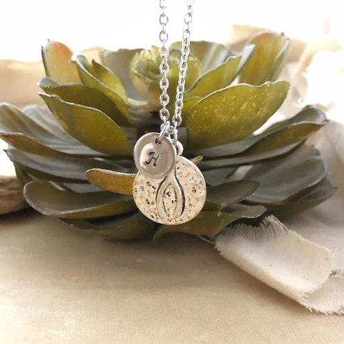 Wishbone Initial Necklace