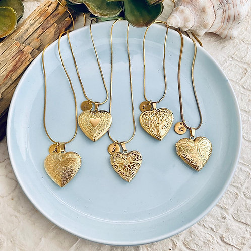 Gold Stainless Steel Heart Locket