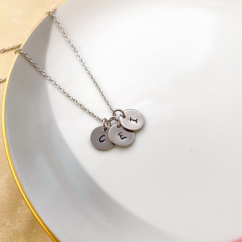 Initial Stainless Steel Necklace