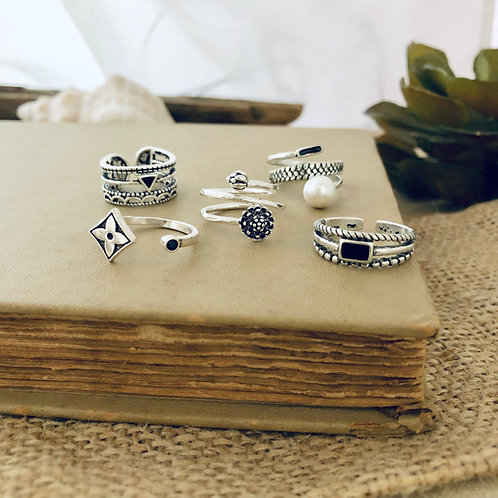 Retro Style Sterling Silver Rings