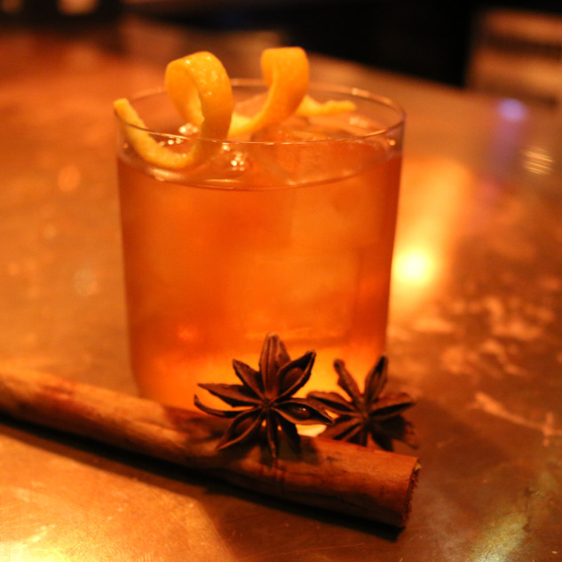 Santa Spiced Old Fashioned in Tipsy Monkey Liverpool