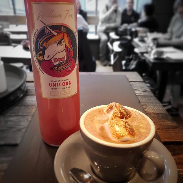 Unicorn Syrup in Crosby Coffee