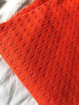 tissu orangé