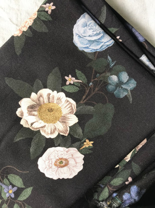 tissu fleurs anciennes