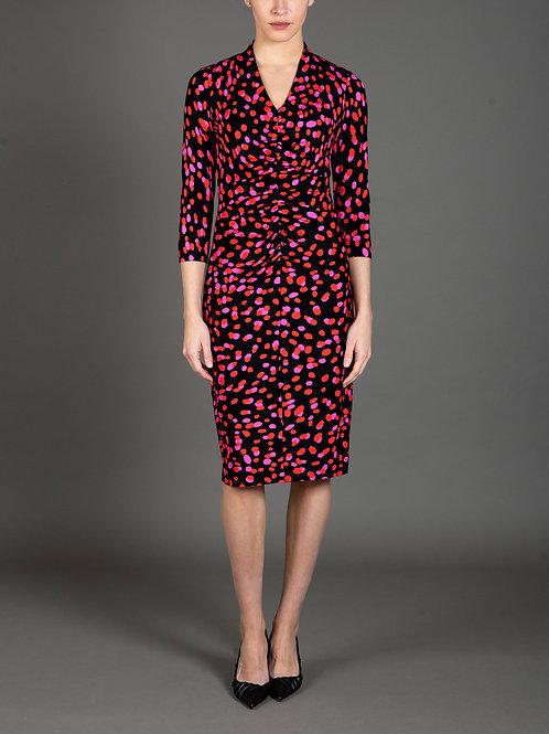 Rose Petal Print Jersey Dress