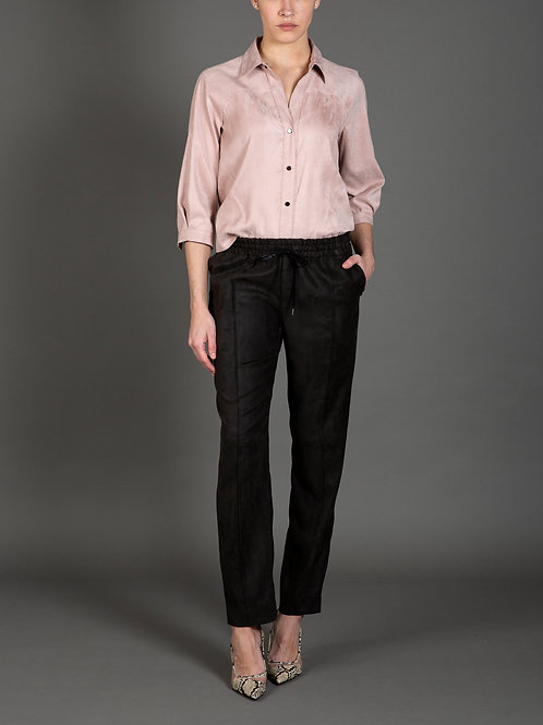 Luxe Faux Suede Shirt