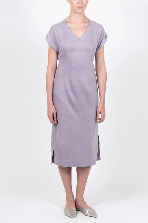 Luxe Faux Suede Midi Dress
