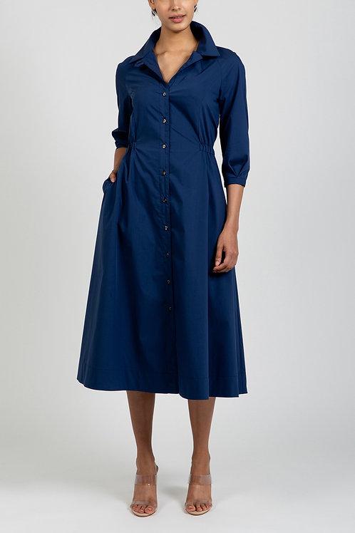 COOLMAX STRETCH POPLIN DRESS