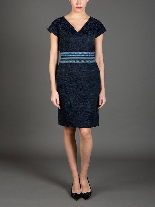 Zebra Jacquard Dress