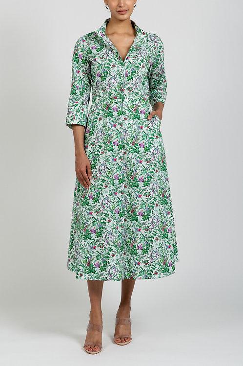 BOTANICAL PRINT COTTON DRESS
