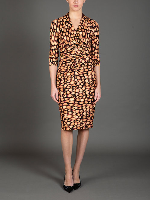 Starburst Print Jersey Dress