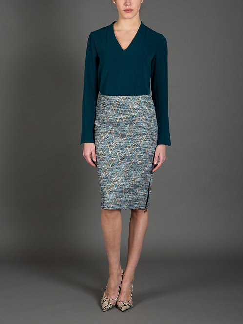 Chevron Knit Skirt