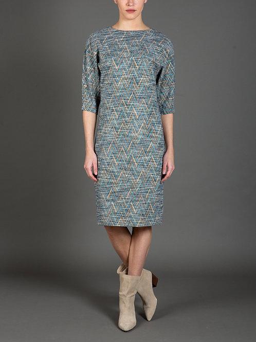 Chevron Knit Dolman Dress